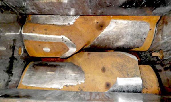 Detalle de Rotores K5 antes del Reacondicionamiento